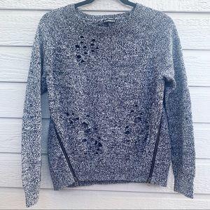 Express   Black/Grey Knit Sweater - Small